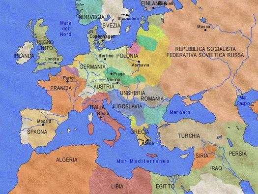 La situazione in Europa dopo la Prima Guerra Mondiale