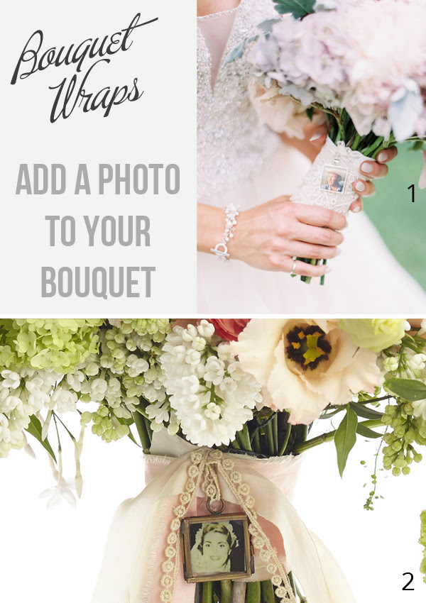 Bouquet Wrap Idea Add A Tiny Photo To Your Bouquet To Keep Loved