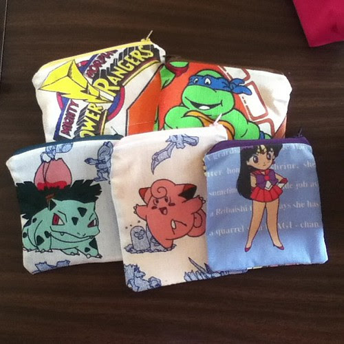 One more set of pouches to go for ConBravo! #tmnt #pokemon #conprep