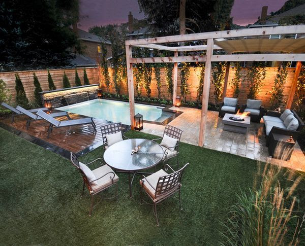 Small backyard design ideas with a pool