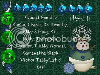 Holly Daze banner & guest list