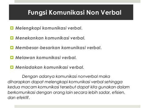 pengaruh komunikasi  verbal terhadap hubungan kerja