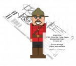 RCMP Officer Man Timber People Woodworking Pattern - fee plans from WoodworkersWorkshop® Online Store - RCMP officers,Royal Canadian Moutned Police,timber people,soldiers,military,yard art,painting wood crafts,scrollsawing patterns,drawings,plywood,plywoodworking plans,woodworkers projects,workshop blue