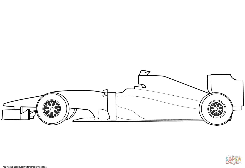 Formule 1 vide coloriages pour visualiser la version imprimable ou colorier en ligne patible avec les tablettes iPad et Android