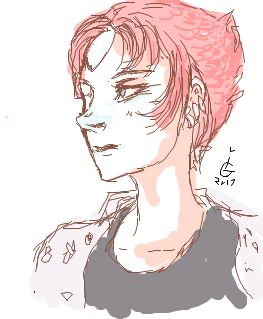 A Pearl drawn in iScribble