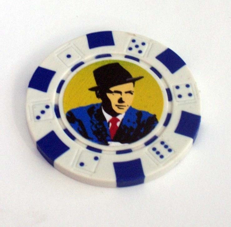Frank Sinatra Las Vegas Casino style Poker Chip for Black Jack 21 Roulette or any gambling