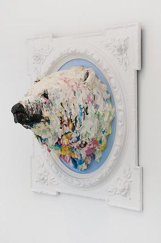 Cabeza de oso polar.