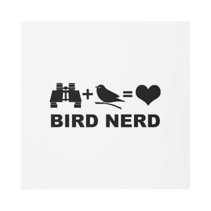 Birder Birdwatcher Funny Bird Nerd Metal Print