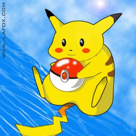 Pikachu feito no Photoshop, desenho antigo, by ila fox