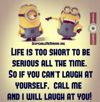 Joke For Monday 20 July 2015 From Site Minion Quotes Life Is Too