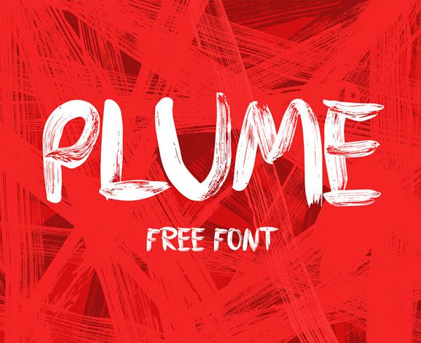 PLUME gratuito Brush Fuente