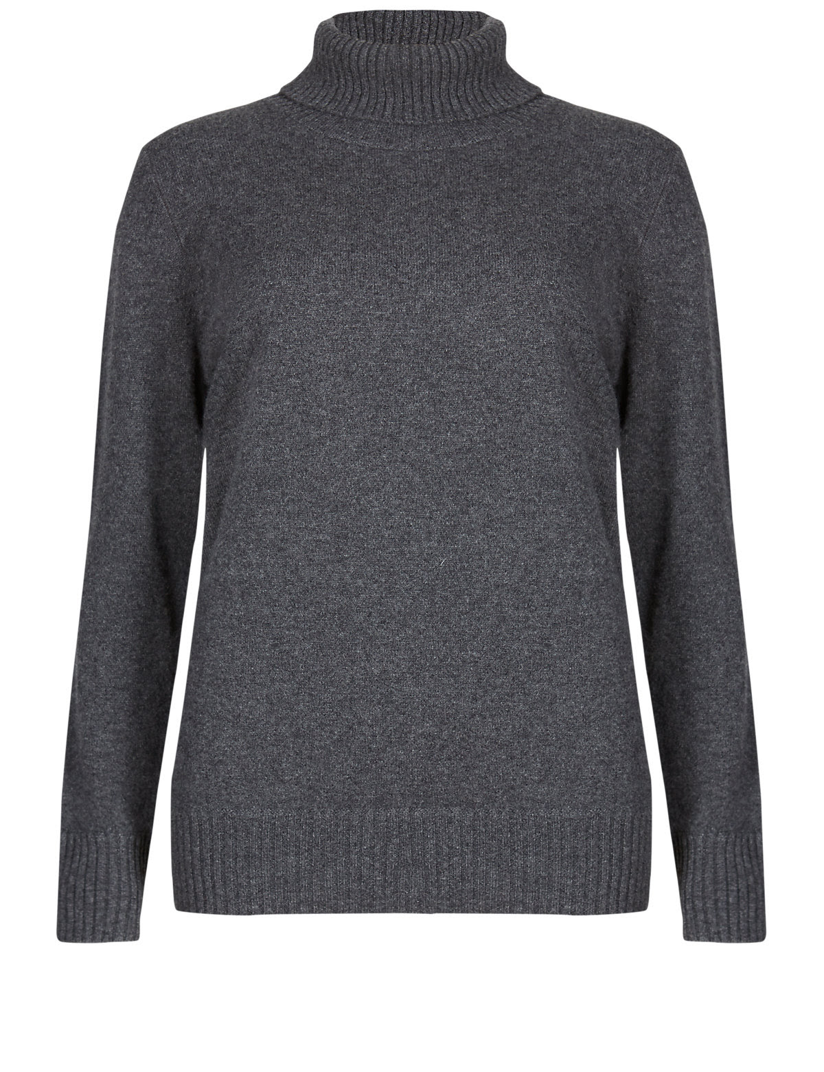 Pure Cashmere Polo Neck Chunky Knit Jumper