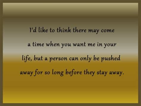 Being Pushed Away Quotes