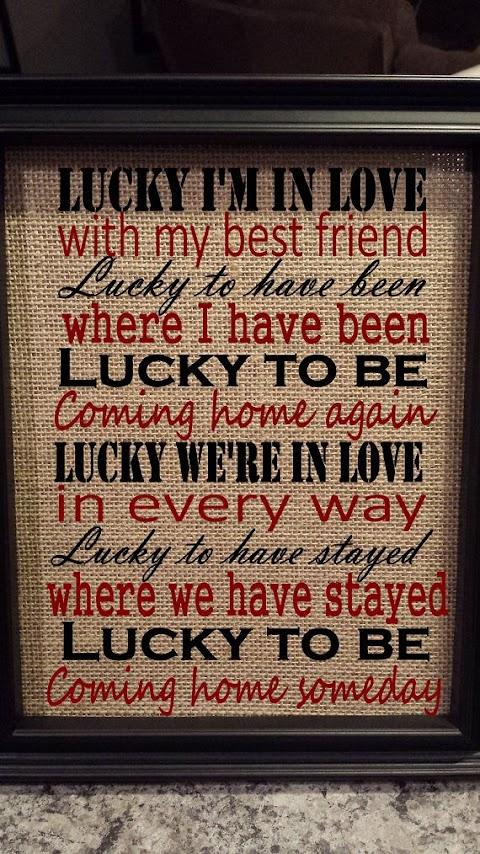 Lyrics Of Lucky Im Inlove With My Bestfriend