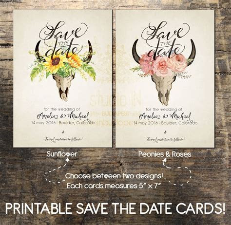 Save The Date Card Printable Save the date card Wedding card