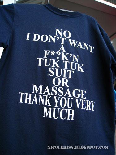 i don't want a fucking tuk tuk t-shirt