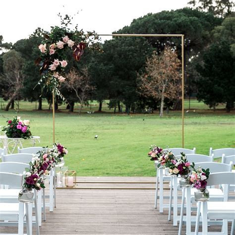 Gold Ceremony Wedding Arch for Hire in Melbourne   Styled