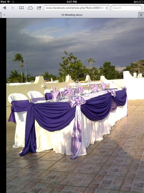 17 Best images about Head table set ups on Pinterest