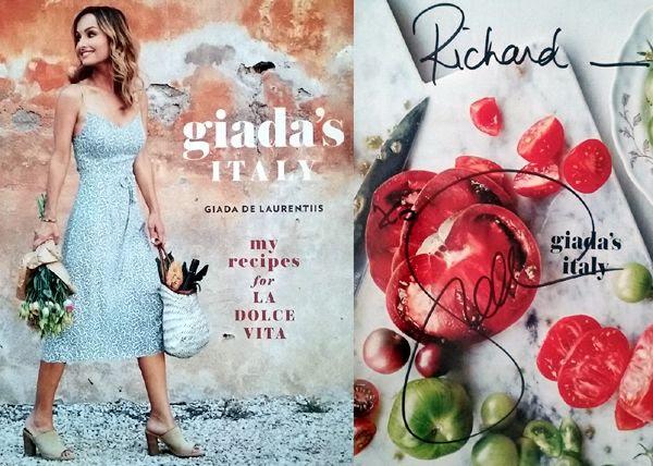 My autographed copy of Giada De Laurentiis' book GIADA'S ITALY.