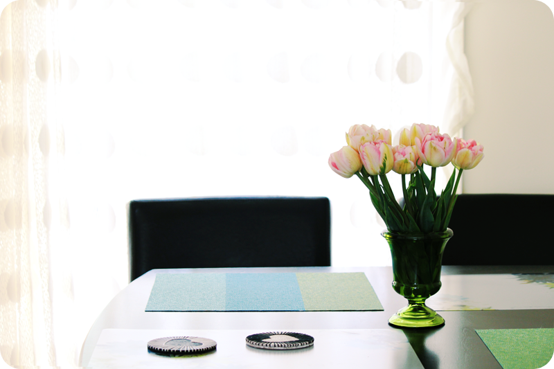 {april} these days | kitchen table