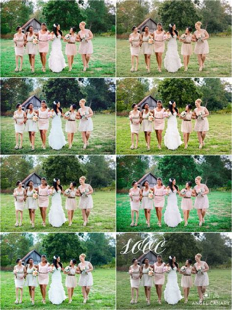 before and after, editing tricks for film looks   weddings