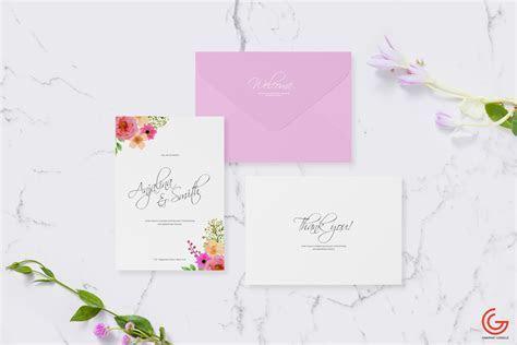 Wedding and Greetings Card Mockup   Free Mockup