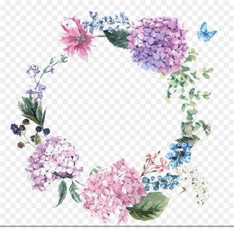 Hydrangea Wedding invitation Flower Illustration   Hand