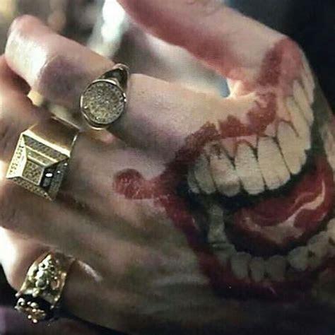 close atjaredleto joker hand tattoo atthebatbrand