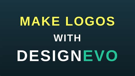 logo design tool designevo net load
