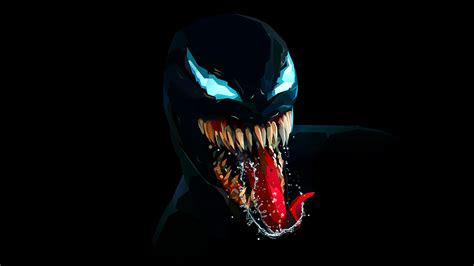 venom character wallpaper  dark background hd