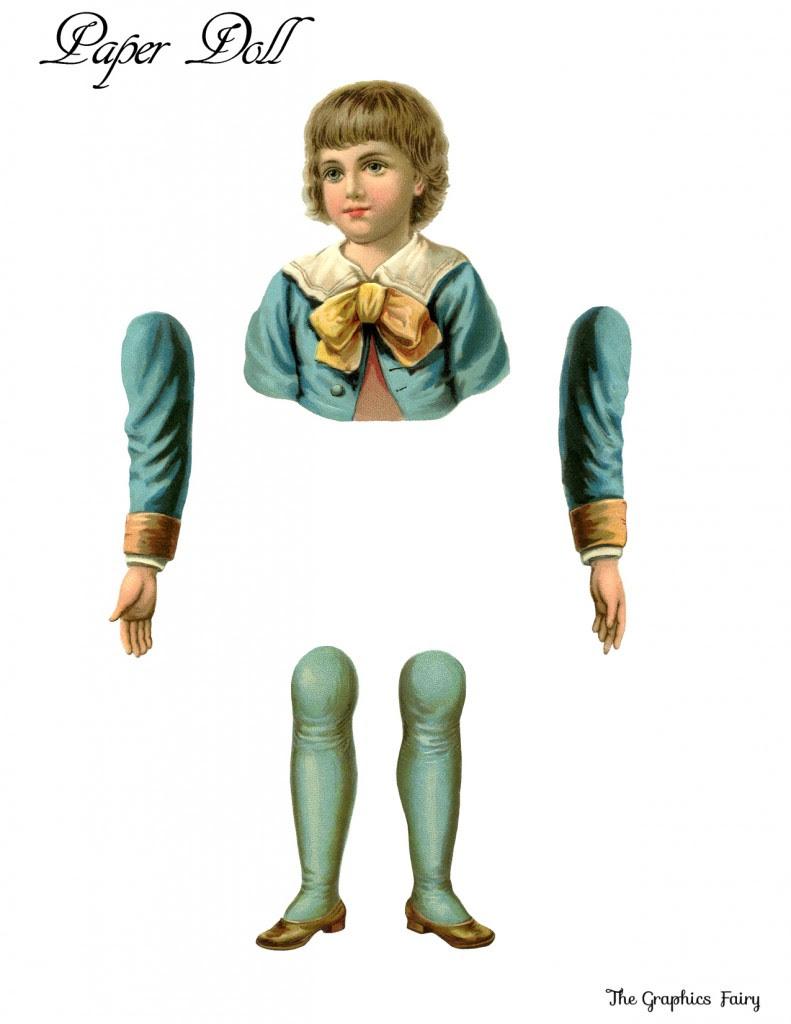Vintage Printable Paper Doll Boy