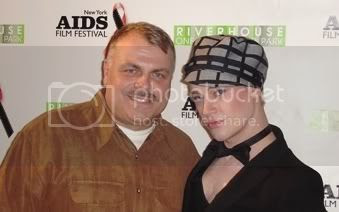 Wolfgang Busch and fashion designer Richie Rich at the Red Ball awards ceremony of the 5th Annual New York AIDS Film Festival on World AIDS Day 2007.