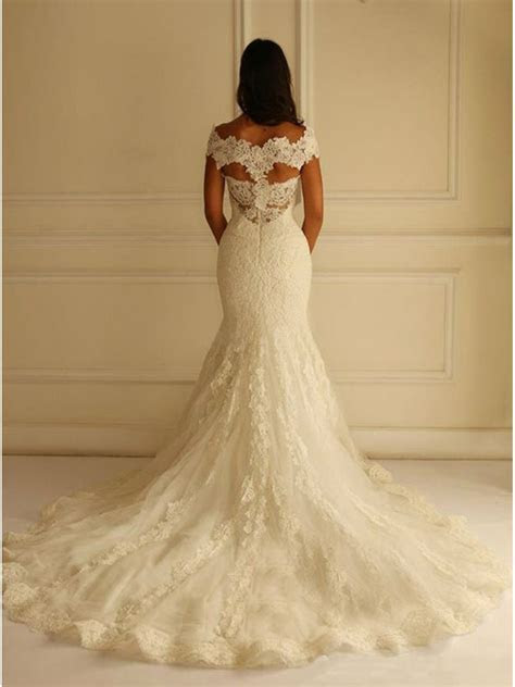 Lace Mermaid Off the Shoulder Wedding Dresses Bridal Gowns