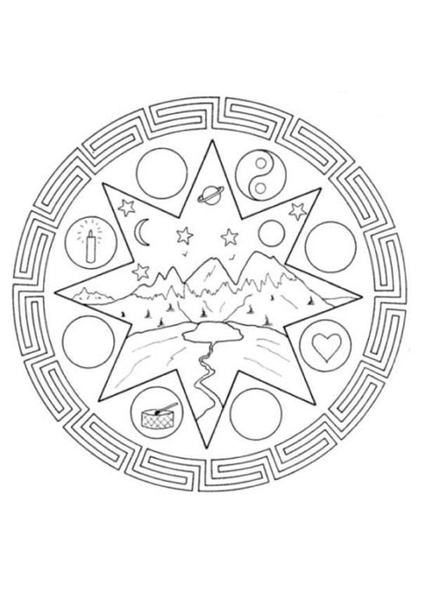Dibujos De Mandalas Infantiles Para Colorear 21 Dibujos Para