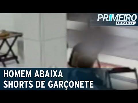 Homem abaixa short de funcionária e deixa ela exposta em loja no Ceará; vídeo