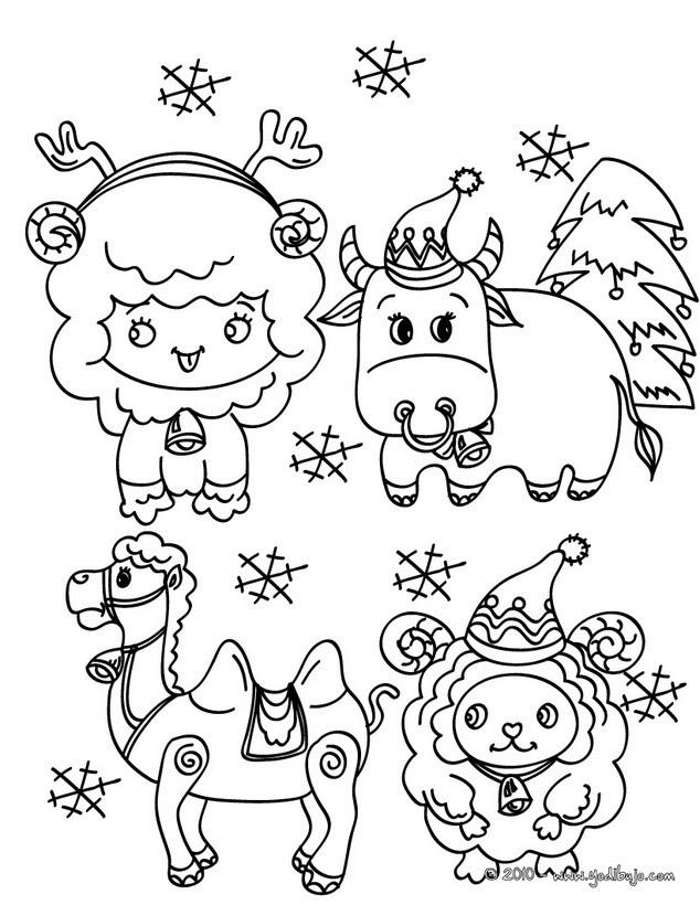 Dibujos Para Colorear Animales Del Pesebre Navidenos Es Hellokids Com