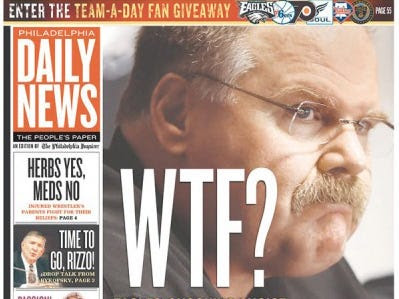 Philadelphia Daily News Cover Questions Choice Of New Defensive ...