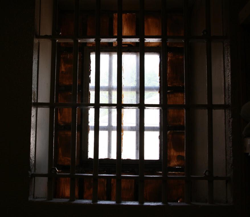 """Window of the """"Starkville City Jail"""""""