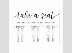Paper Halo   Wedding Seating Charts