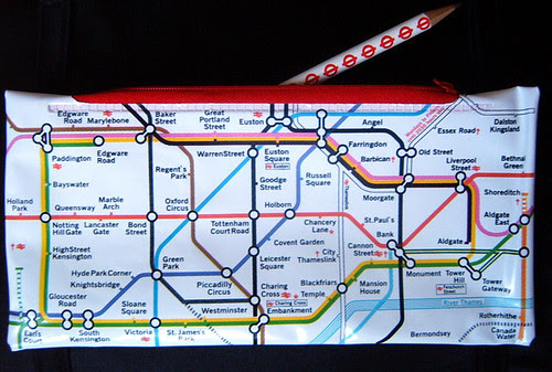 London Underground Map Pencil Case and Pencil