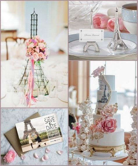 Paris Themed Wedding Ideas with Eiffel Tower Design from