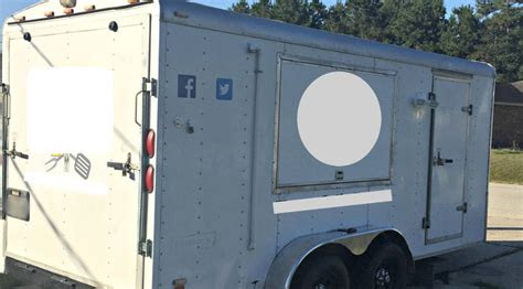 custom built fully loaded food trailer