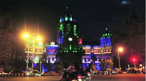 Meanwhile, the Central Railway is also gearing up to introduce thematic lighting for the heritage building at CST. (Source: Express photo by Kevin DSouza)