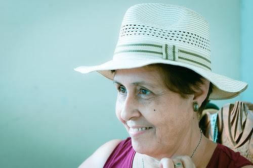 La señora del sombrero