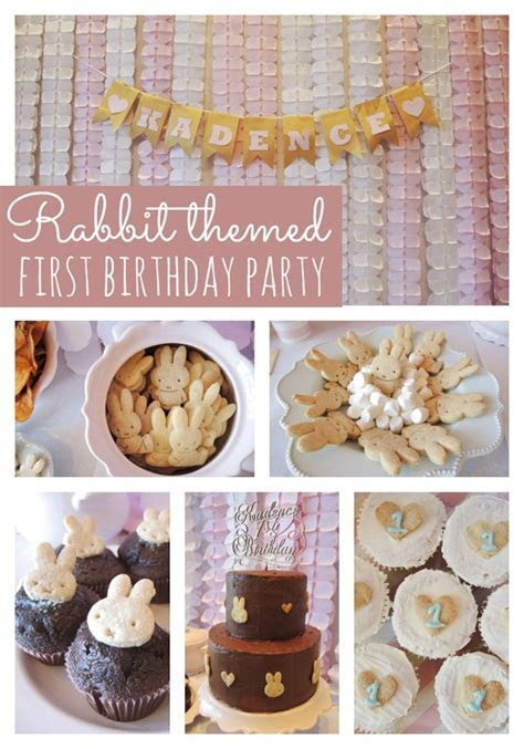 Rabbit Themed First Birthday Party   Pretty My Party