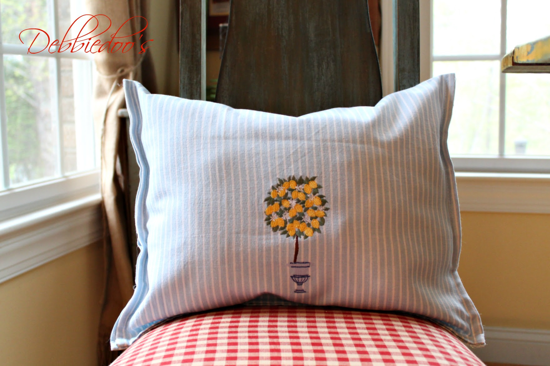 dishtowel pillows