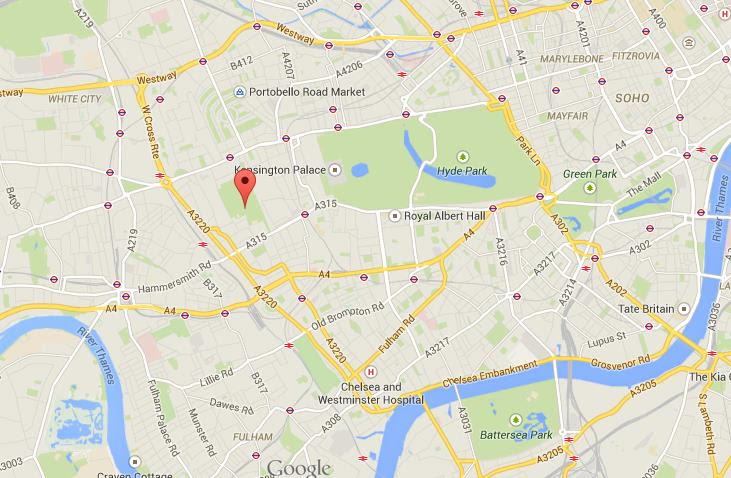 Where is Holland Park on map of London