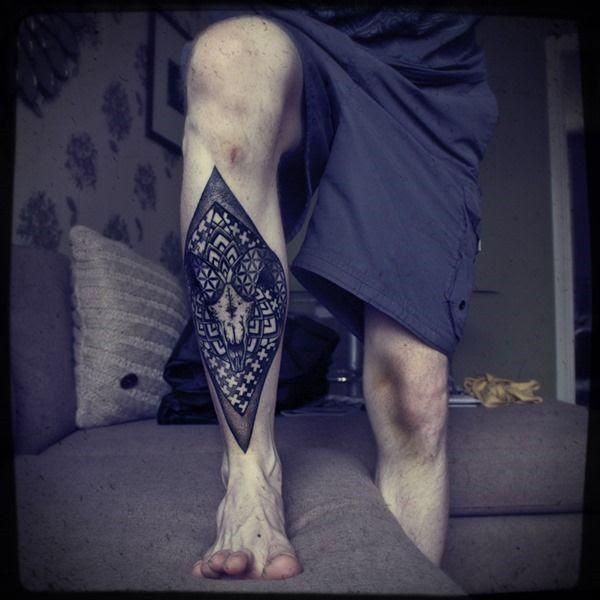 Tattoos For Men Rhombus Leg Tattoo Tattoomagz