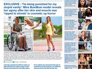 Andressa Urach entrevista Daily Mail (Foto: Reprodução/Daily Mail)