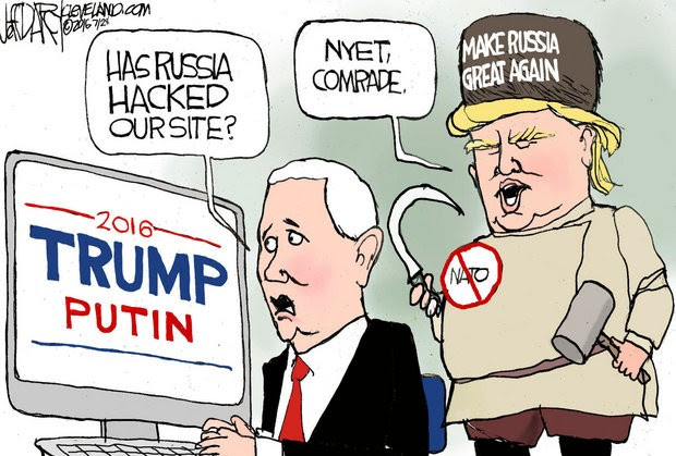 Image result for Trump Putin Trump Cartoon
